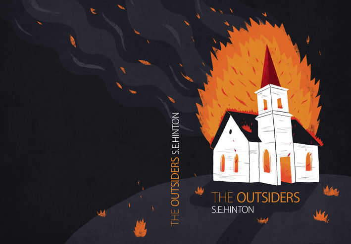 Book Cover Ideas For The Outsiders : Patrick o leary the outsiders book cover