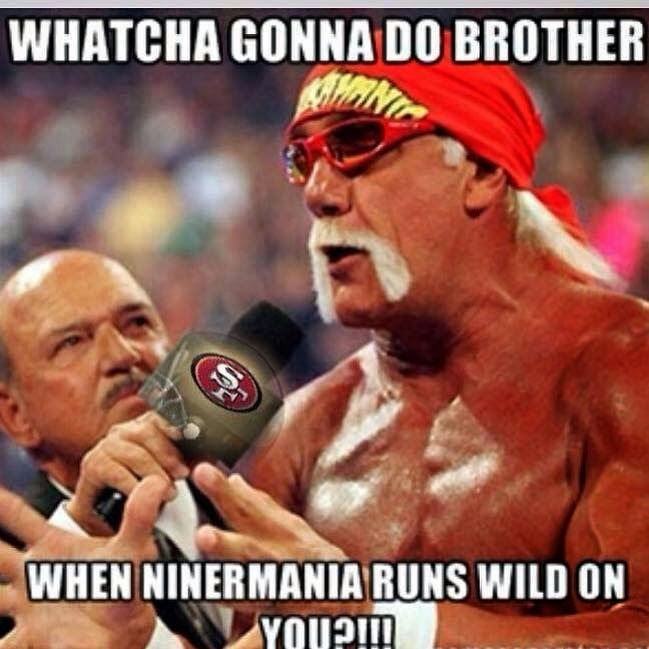 whatcha gonna do brother when ninermania runs wild on you?!!!