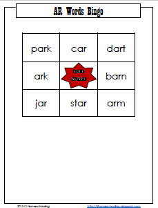 AR Words Bingo/Matching Game