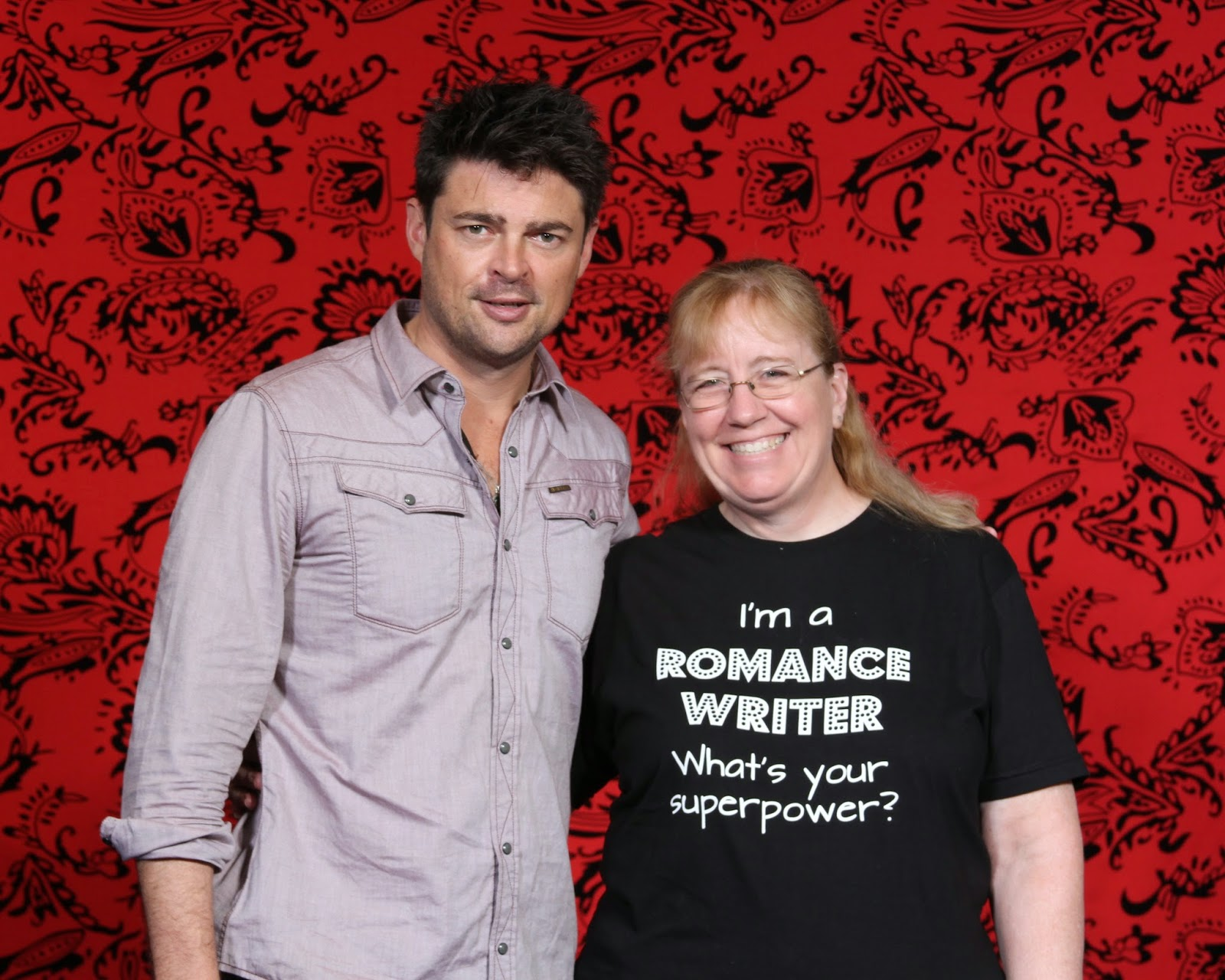 Picture of Karl Urban and Author Stacy McKitrick