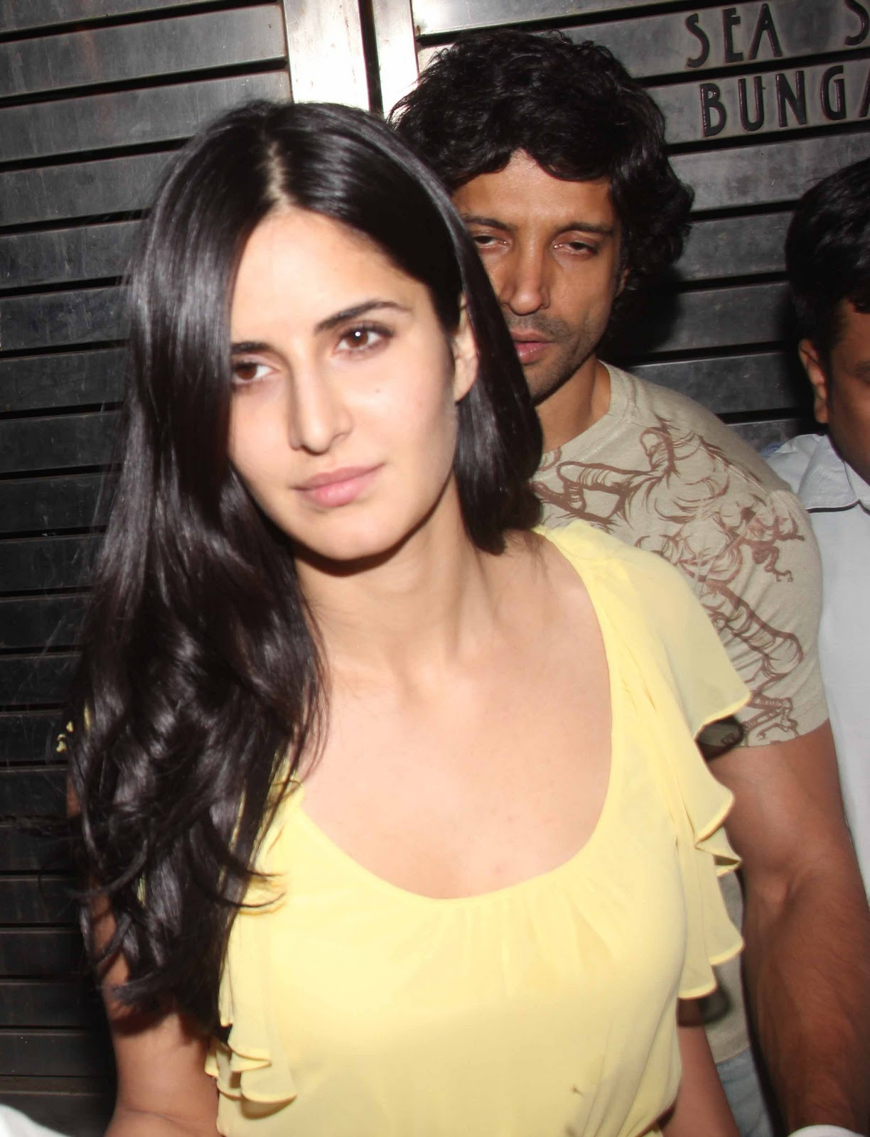 katrina kaif at Farhan Akhtar's Birthday Bash1 - katrina kaif in Yellow Dress at Farhan Akhtar's Birthday Bash