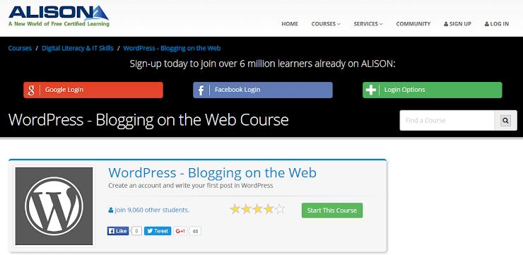Alison free WordPress course