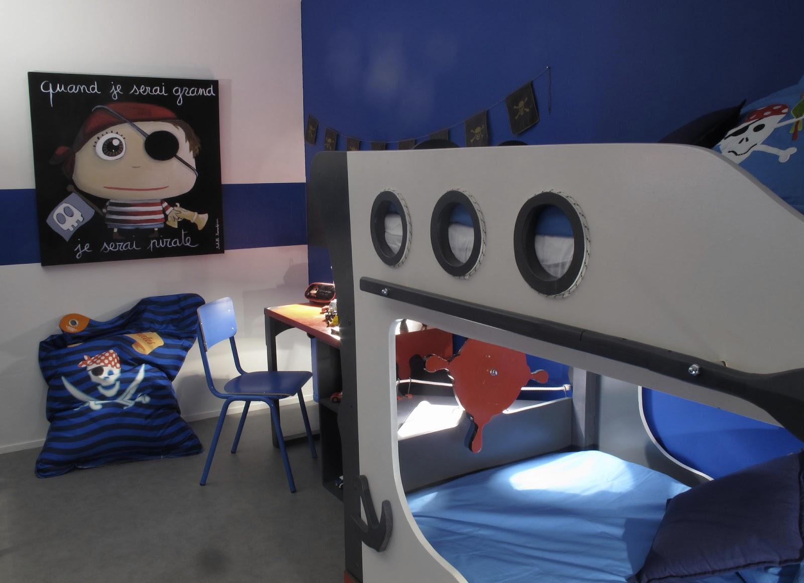 le coin des cr ateurs emission d co chambre pirate. Black Bedroom Furniture Sets. Home Design Ideas