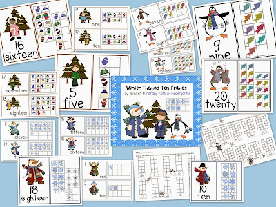 http://www.teacherspayteachers.com/Product/Winter-Ten-Frames-Unit-Penguins-Snowmen-Children-412315