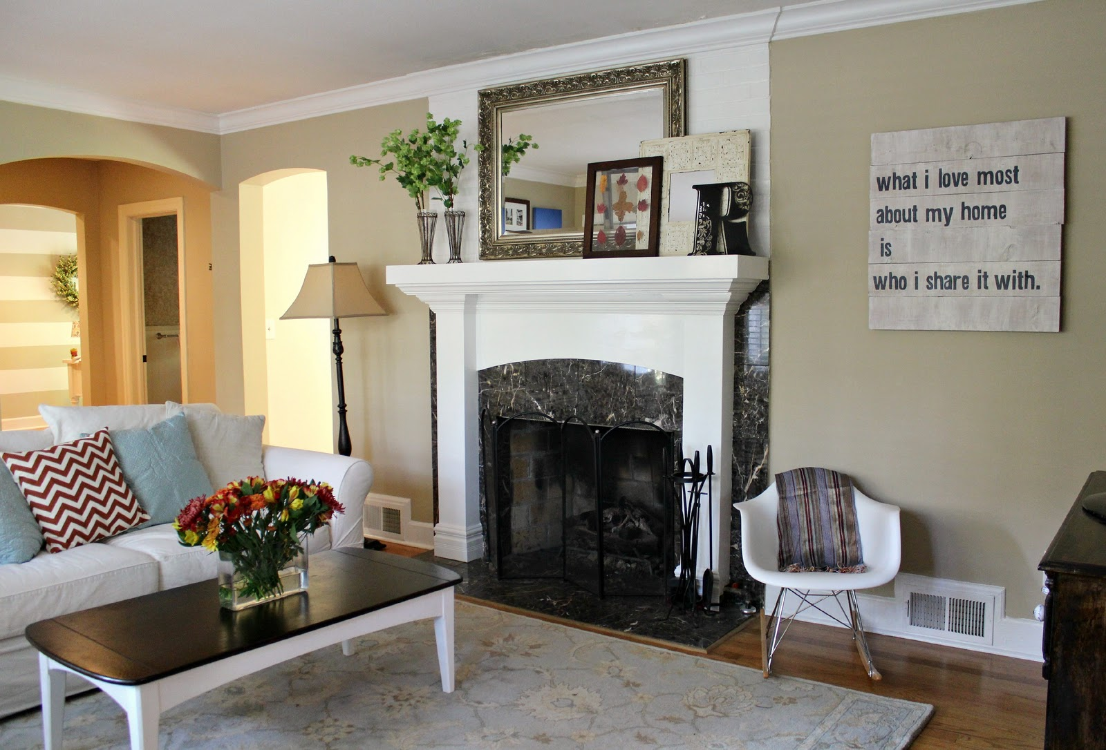 Ten june living room tweak list the final reveal - Neutral colors to paint a living room ...