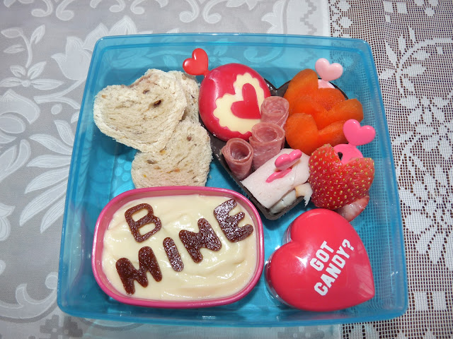 valentine heart bento lunch