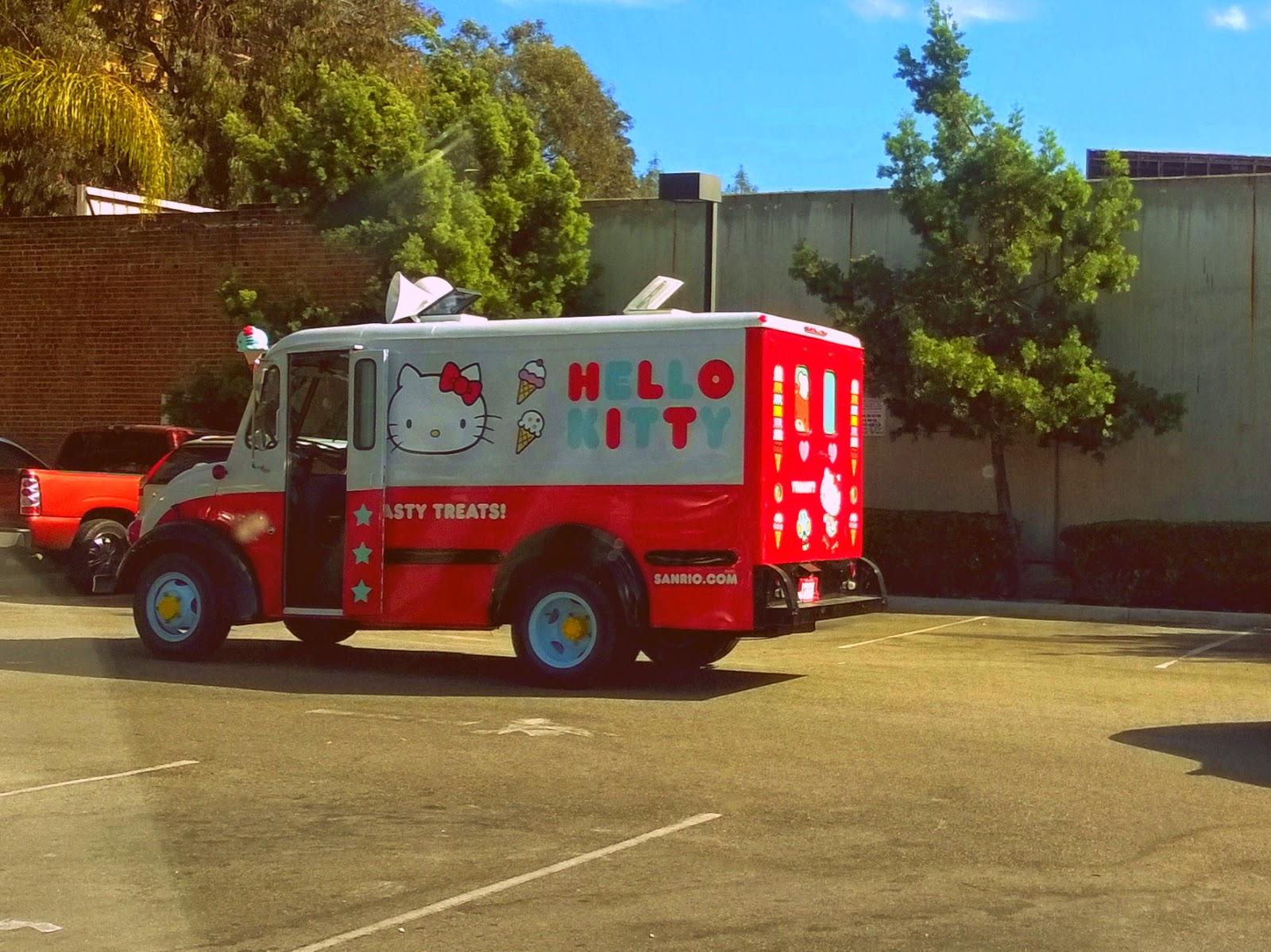 Hello Kitty ice cream truck