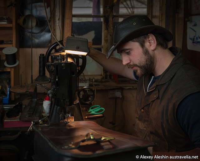 Sebastian Graham works in the traditional manner, using old hand-tools and equipment