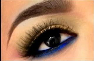 Tendência maquiagem - azul