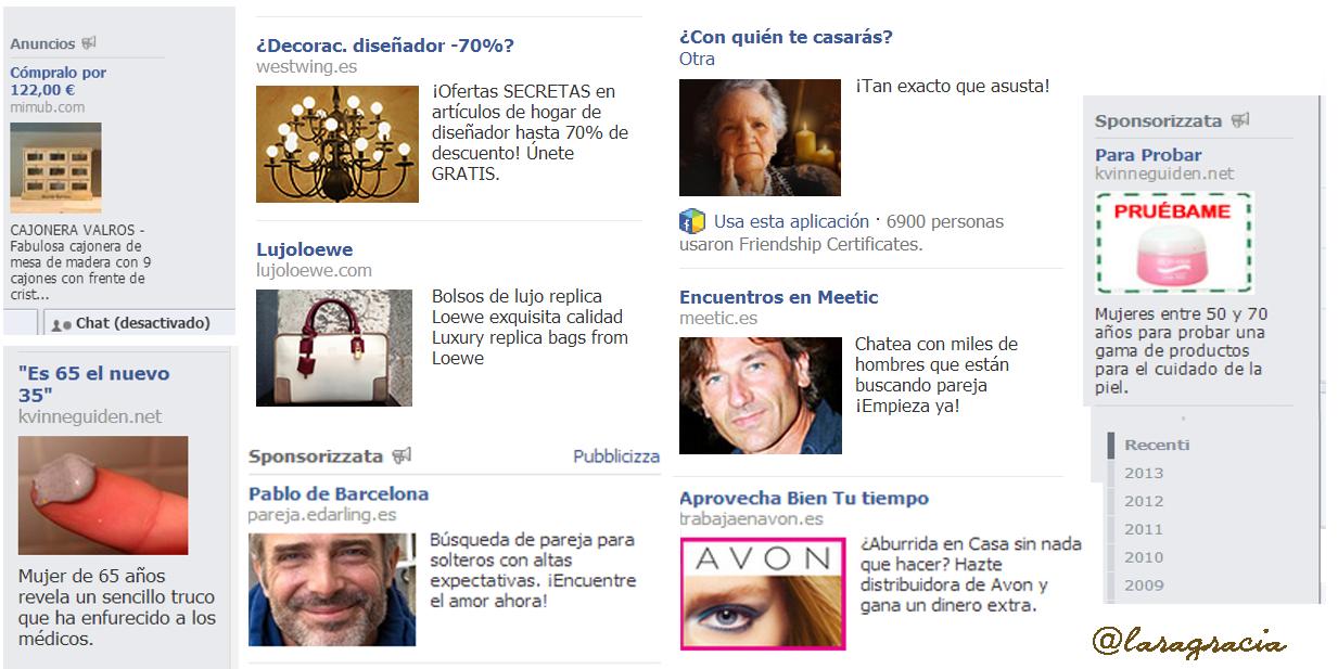 Lara Gracia anuncios Facebook