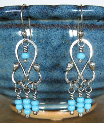 sterling silver chandelier earrings by Cicada Silver
