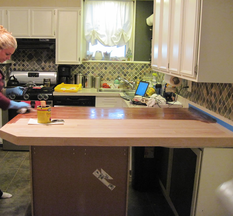 Our Old Abode: DIY Kitchen Peninsula