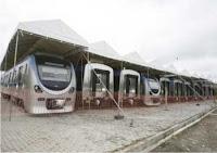 vagões do metrô de Salvador
