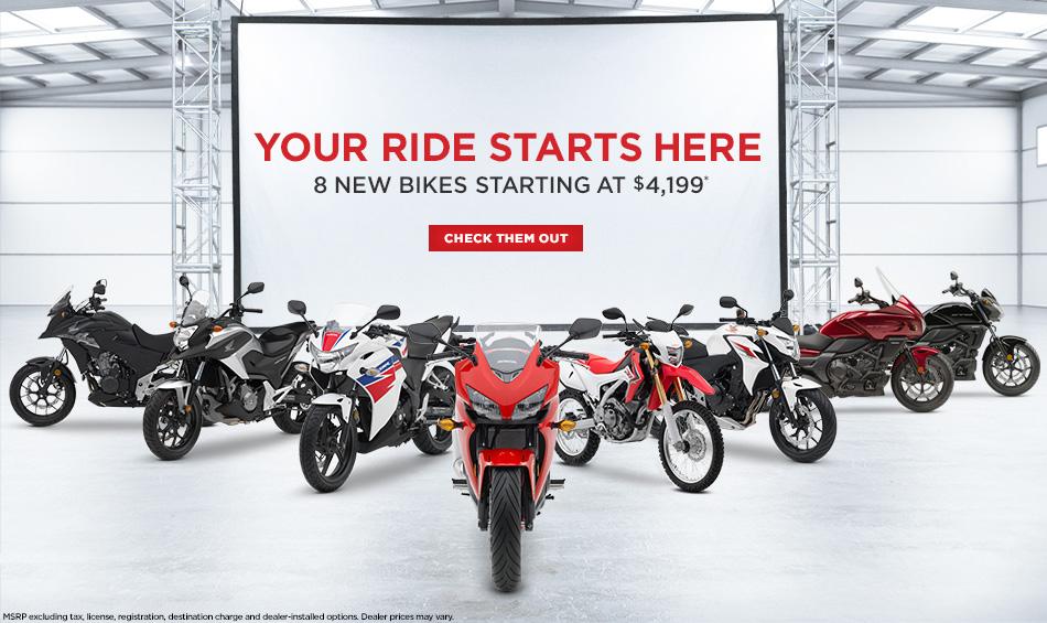 8 new bikes from honda powersports otomild for Honda dealerships in arkansas