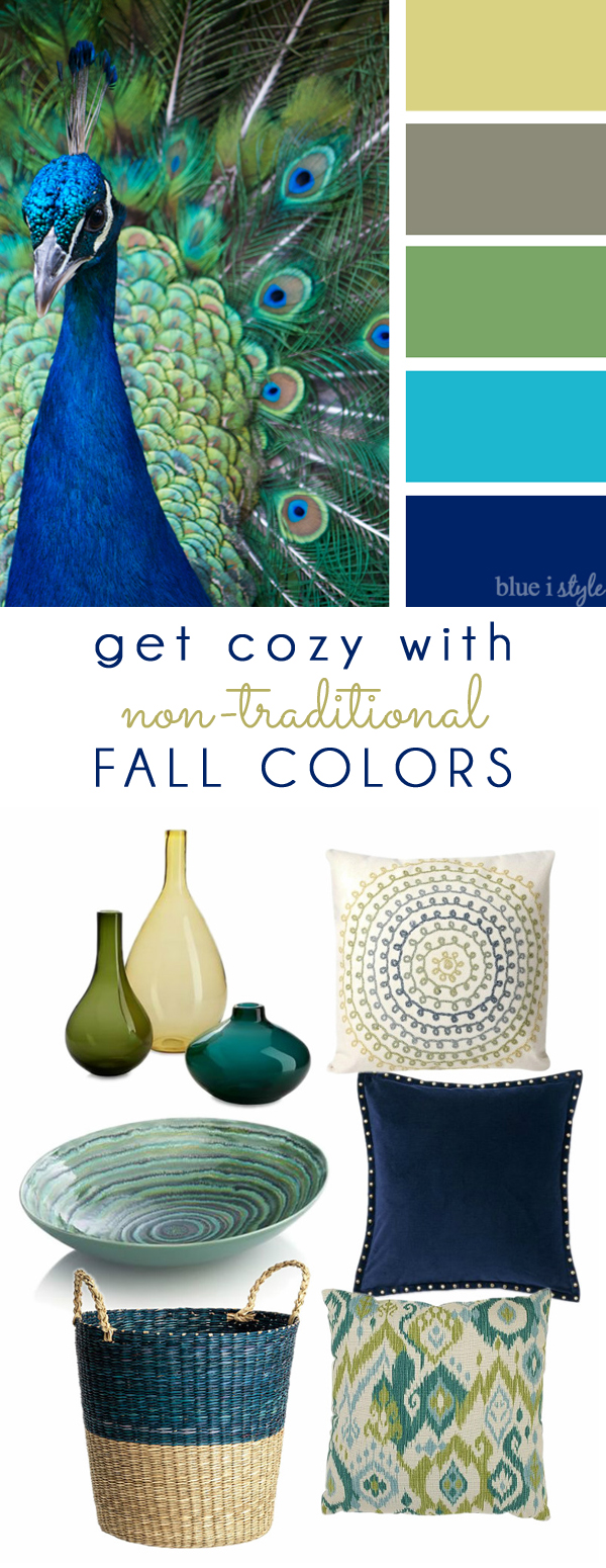 Fall Colors Mood Board  - Peacock