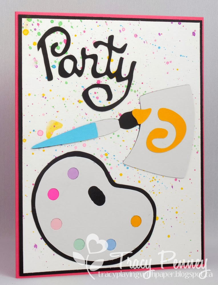 This is Me Playing With Paper Artist Party Invitations – Artist Party Invitations