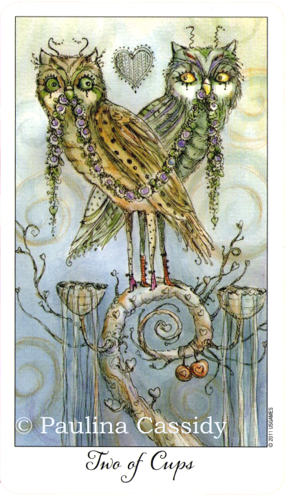 Joie de Vivre Tarot, Two of Cups, Paulina Cassidy