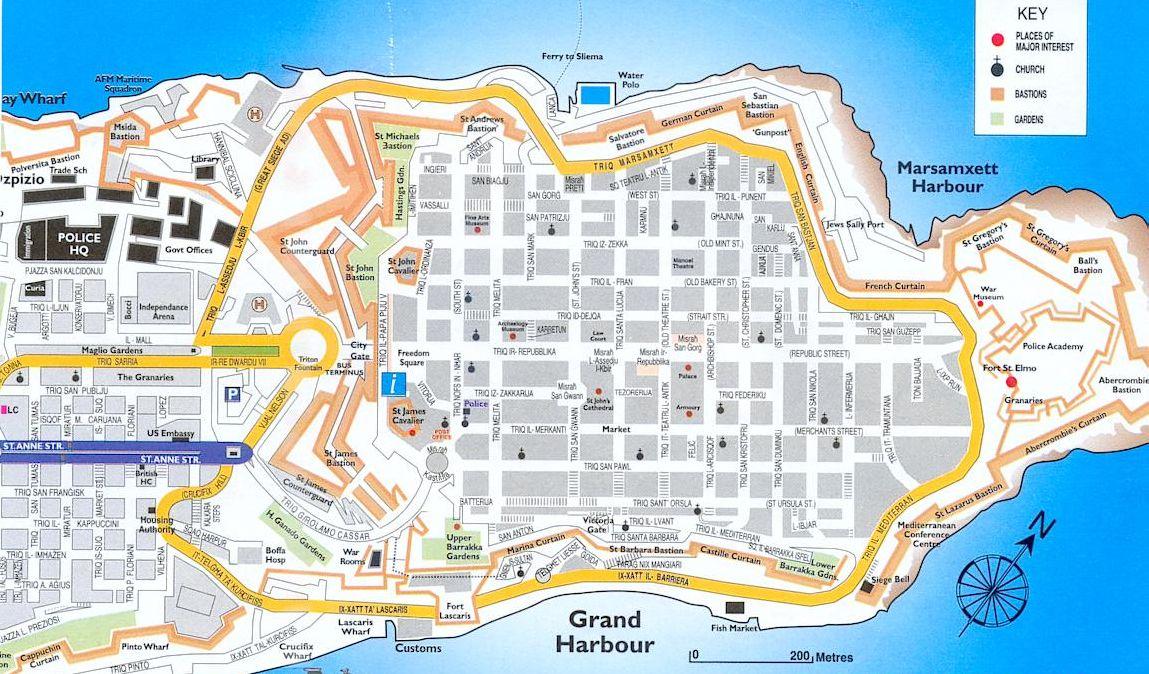 Valletta spacer po stolicy malty podr niczo for Plan de malte