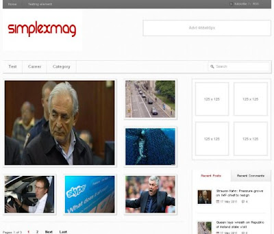SimplexMag magazine free Blog Template