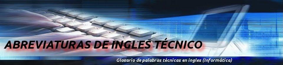 Abreviaturas De Ingles T 201 Cnico Letras Ijkl