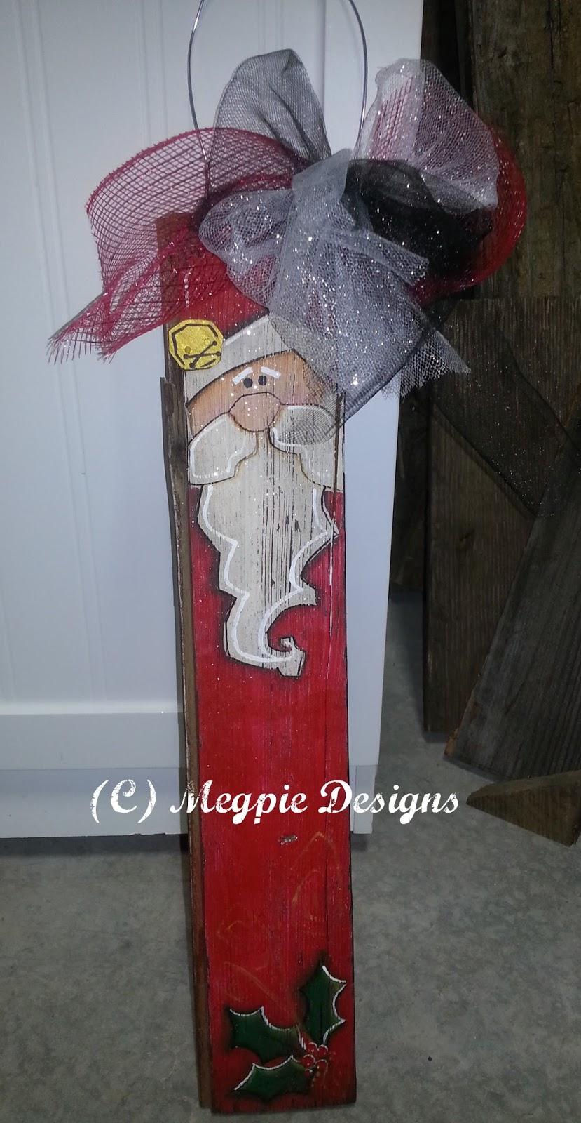 Megpie designs barn wood santa dcc blog hop for Wood craft painting ideas