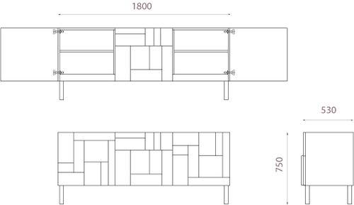Alba Console the Sideboard Design Dimensions