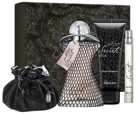 O Boticario presente kit glamour secrets black dia dos namorados