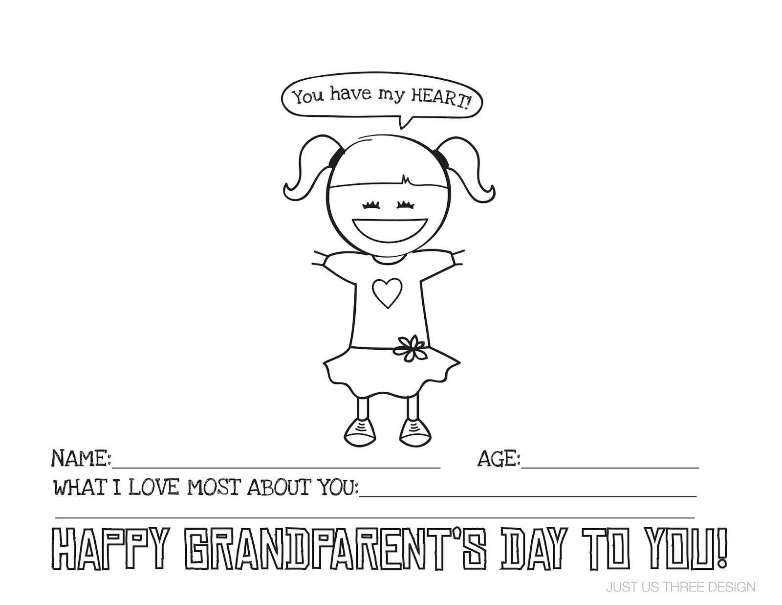 grandparents day printables cards