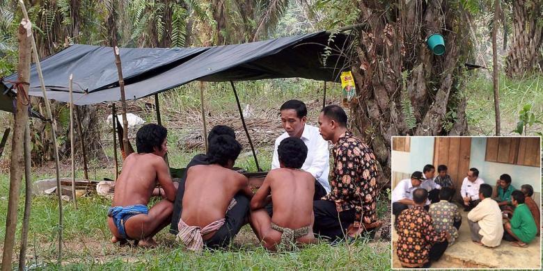 Foto Jokowi dan Suku Anak Dalam