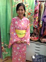 Young lady in Kimono from Kimono House NY