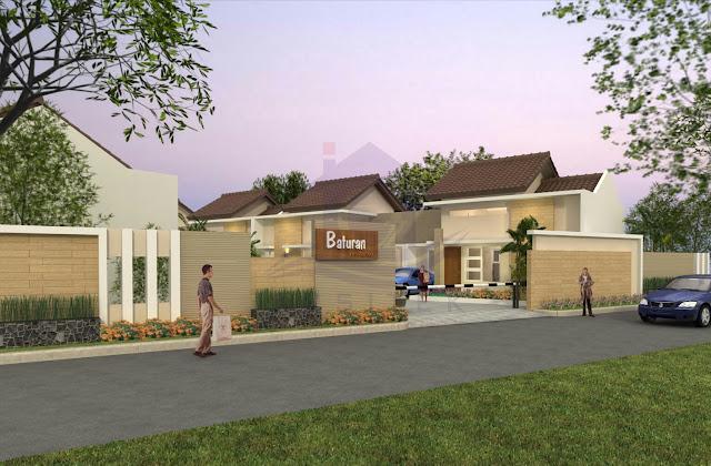 Desain Eksterior Perumahan Baturan Residence Colomadu