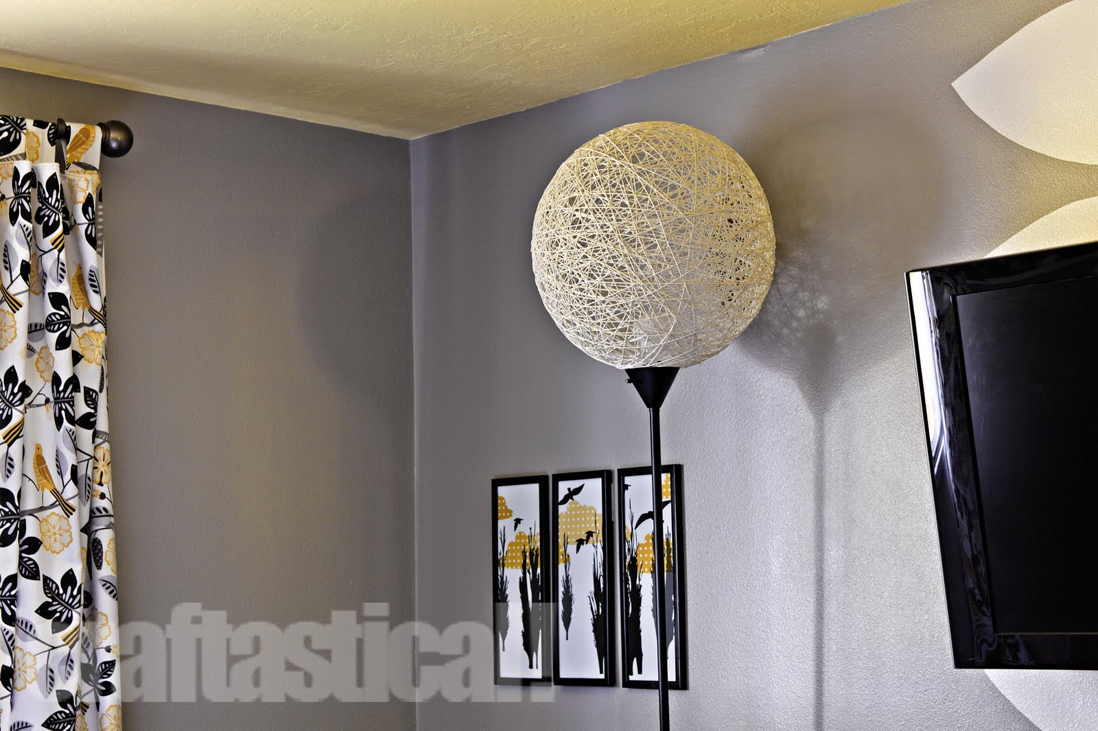 Craftastical!: The Pinterest Challenge--A Floor Lamp Make-Over for String Floor Lamp  155sfw