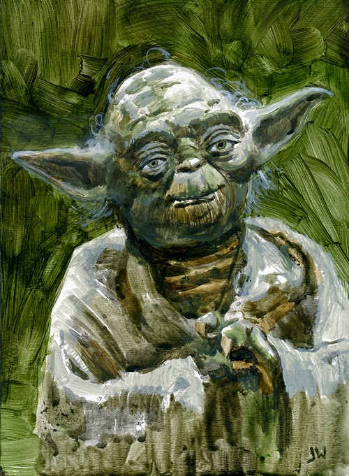 Yoda painting by Jeff Ward