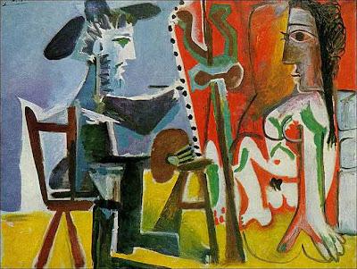Pablo Ruiz Picasso - El pintor y su modelo (1963)