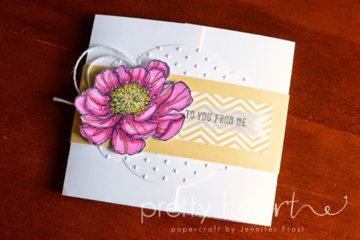 Jennifer Frost, Stampin' Up!, Bloom with Hope, And many more, blendabilities, melon mambo, gift card holder