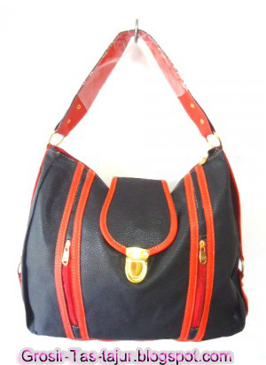 tas wanita modern hitam orange