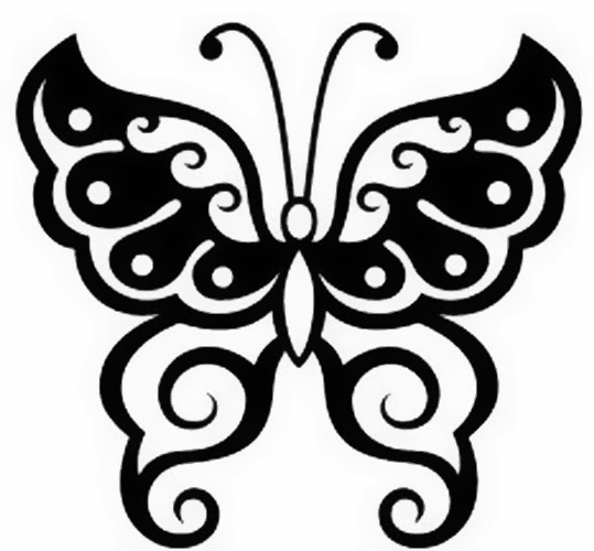 Butterfly tattoo stencil