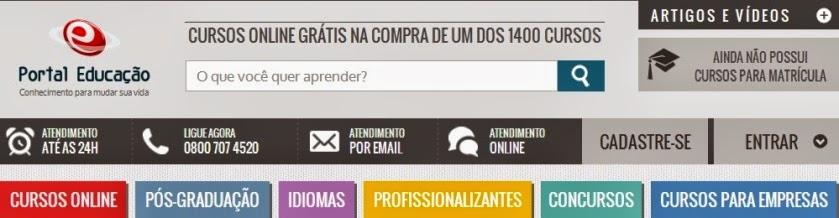 Portal Educação curso de informática online