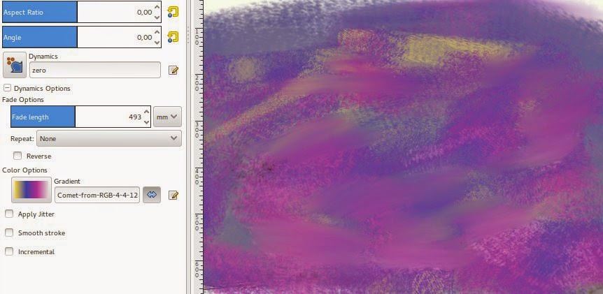 Sample the gradient of palette rescued 4 colors inspired by the image of this article.