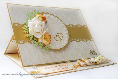 kartki okolicznościowe, kartka sztalugowa, składaczek, kartka weselna, ślub, barbara wójcik