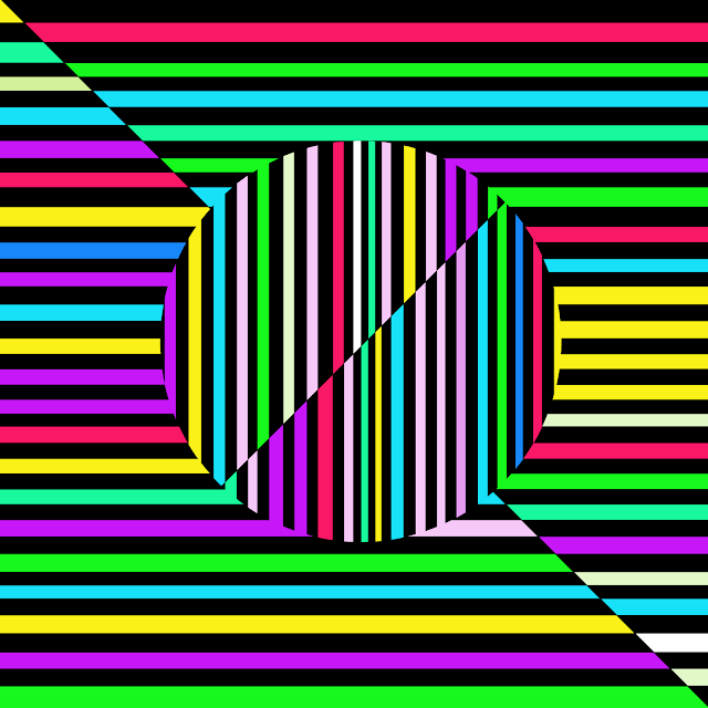iphone casino drawing of psychedelic optical illusion