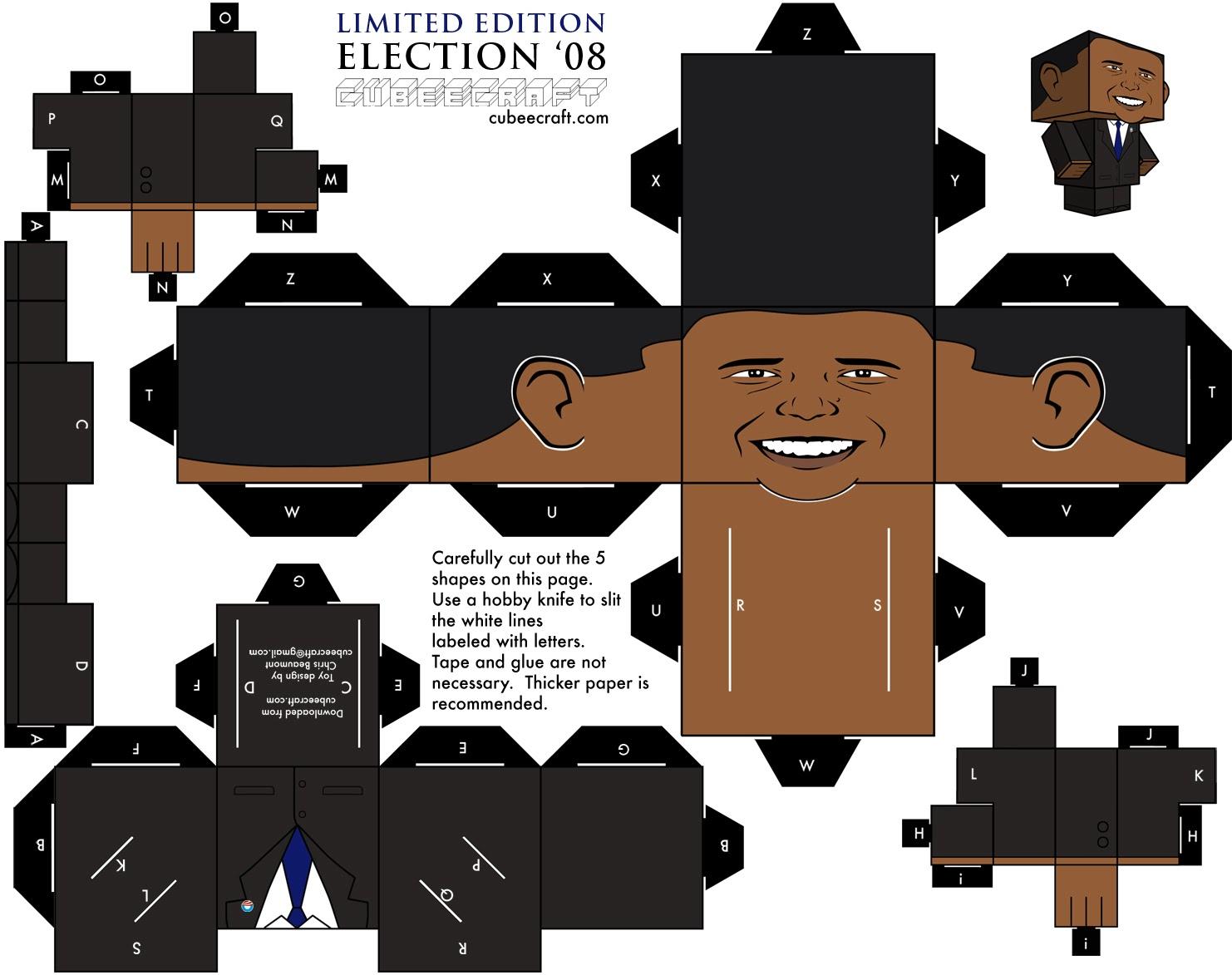 Barack Obama Paper Mask