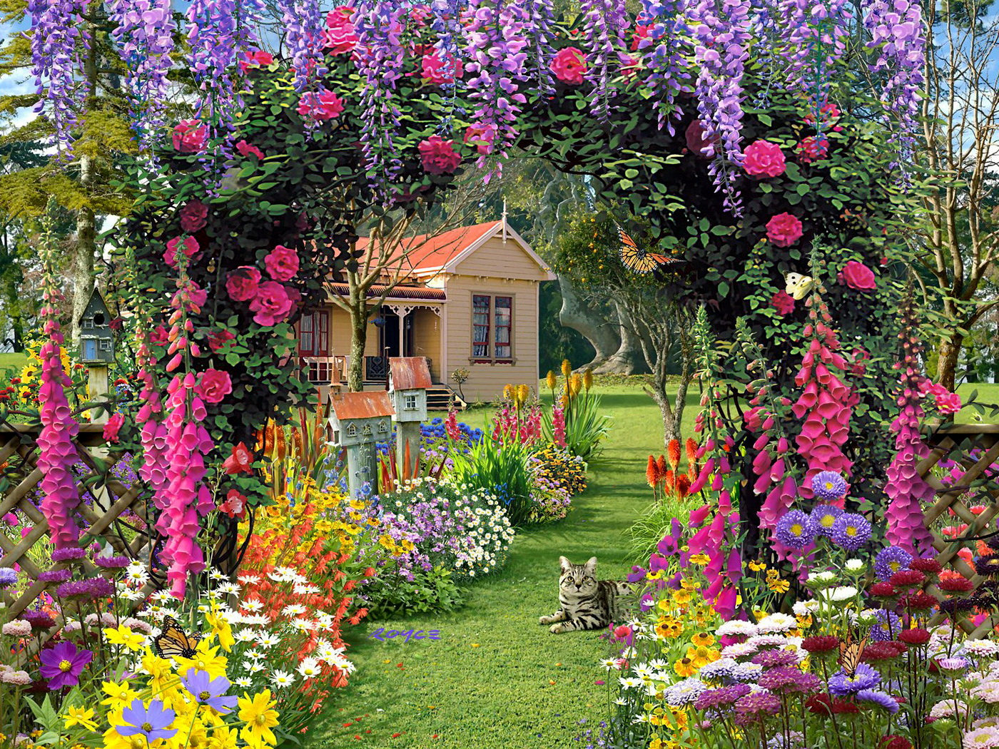 Wallpapers Fair: Luxurious Flower Garden HD Widescreen Wallpaper