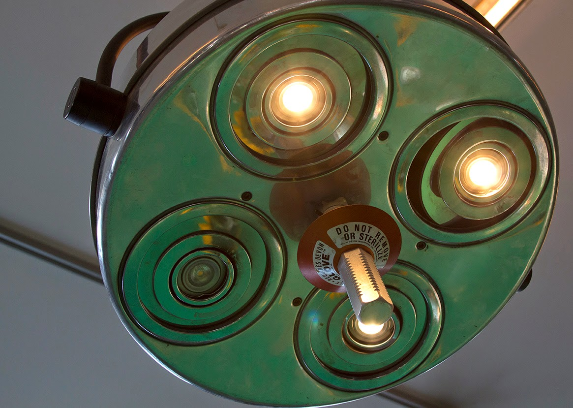 vintage lamps of the operating room