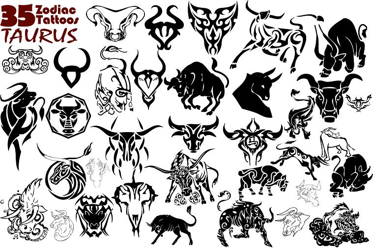 Taurus Zodiac Tattoo Designs