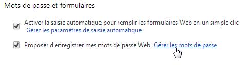 capture d'écran Google Chrome - supprimer un mot de passe - étape 2