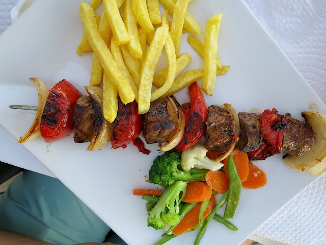 Marbella Spain Summer Holiday Food Beef Skewer Restaurant