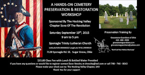 Sept 19 2015 Hands-On Cemetery Preservation Workshop - Mark Morton Gravestone Guardians of Ohio