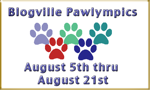 I'm one of the hosts of this year's Pawlympics!