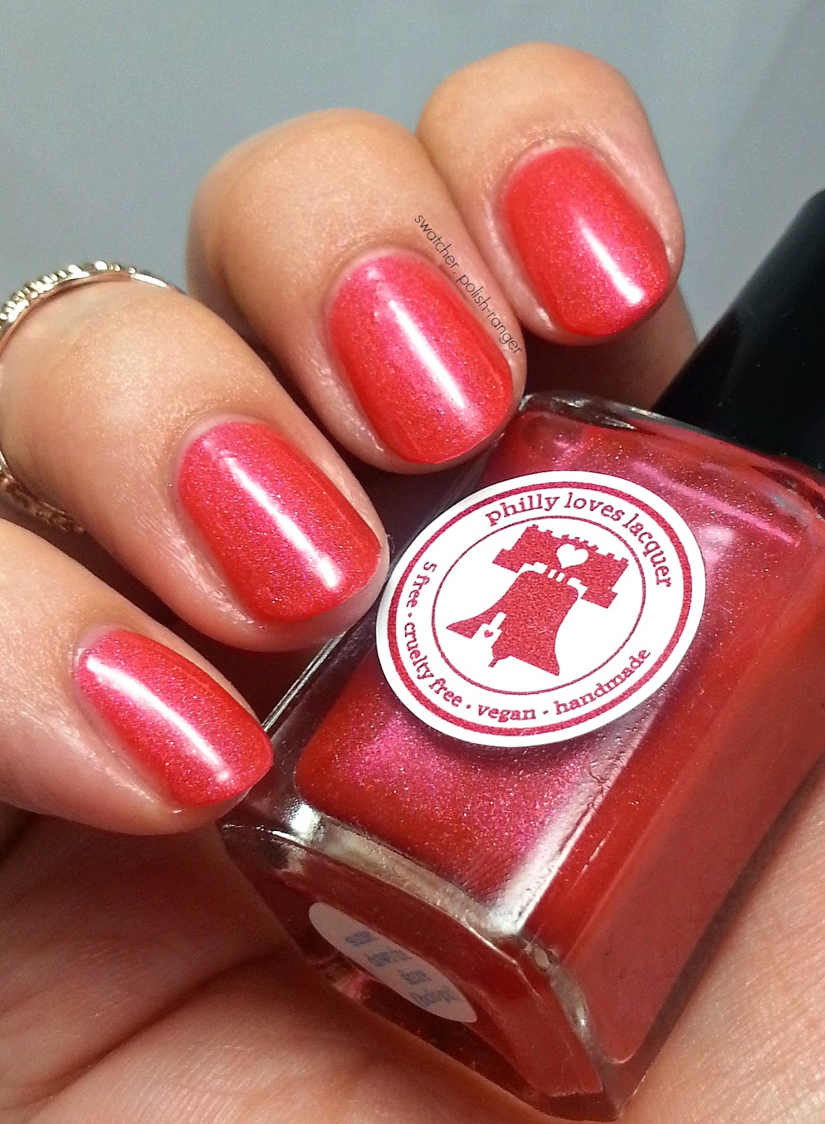 Philly Loves Lacquer Sunset Down the Shore swatch - June Holo Grail box